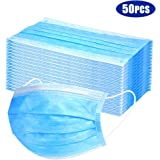 Protective Face Muzzles Non-woven Anti-Particle Anti-droplet Anti-pollen Dust-proof Breathable Dustproof Face Muzzles 50PCS