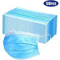 Protective Face Muzzles Non-woven Anti-Particle Anti-droplet Anti-pollen Dust-proof Breathable Dustproof Face Muzzles 50PCS
