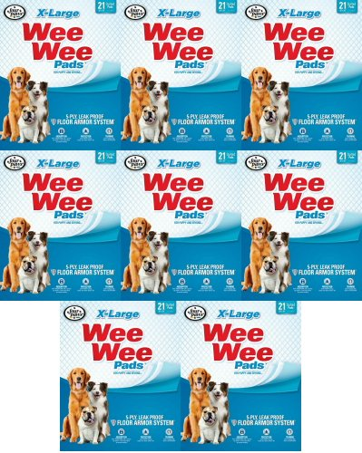 Four Paws XL 168 pk Wee Wee Pads (8x21pk) by Four Paws