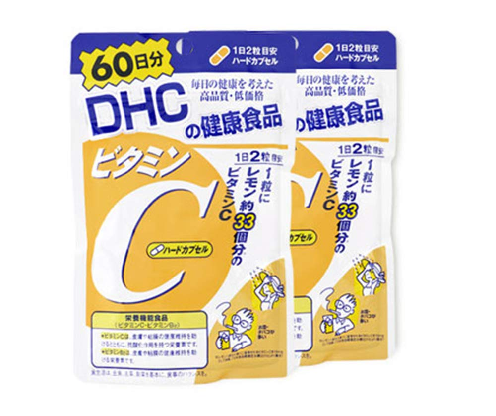 Twin Pack DHC-Supplement Vitamin C 60 Days (60Days x 2)Helps brighten skin Helps to improve blood circulation And also helps the face look flawless, not dull by DHC (Dee H. Sea)