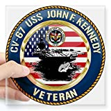 kitchen 67 specials CafePress - CV-67 USS John F. Kennedy Square Sticker 3