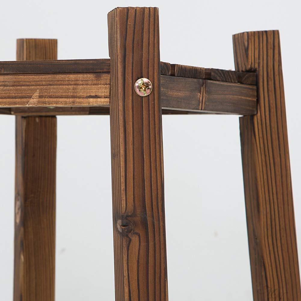 ZHANWEI Gartenregal Blumenregal Korrosionsschutzholz Bodenst/ändig Mehrschichtig Multifunktion Innen draussen Karbonisierte Farbe 3 Gr/ö/ßen Farbe : 19.5x60cm
