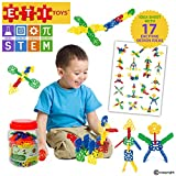 ETI Toys – Geometry Snowflakes for Boys and Girls 80 Piece Set for Making Endless Creations!