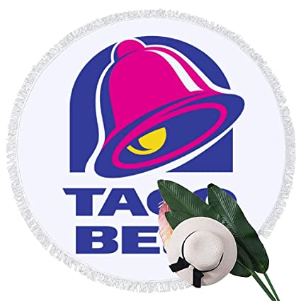 Amazon.com: Enmiy Round Beach Towel Majestic Bell with Taco ...