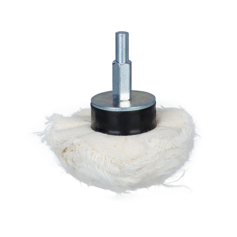 4/pezzi lucidatura Wheel Polishing Buffing Pad conico in cotone AMT cono//Colonna//Fungo//T a forma di testa di rettifica con 1//4/manico Disco di lucidatura set Home Idol