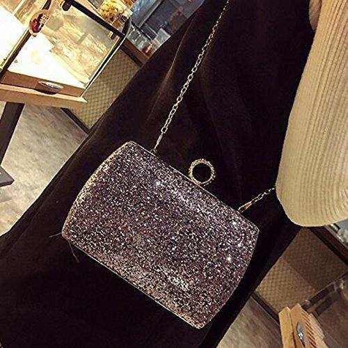 banquet soirée Noir Gris brillante sac diamant cuir en le diamant Sac à paquet en brillant tenant obliques sacs main paillettes Couleur diamant paquet embrayage main wq6ng7C