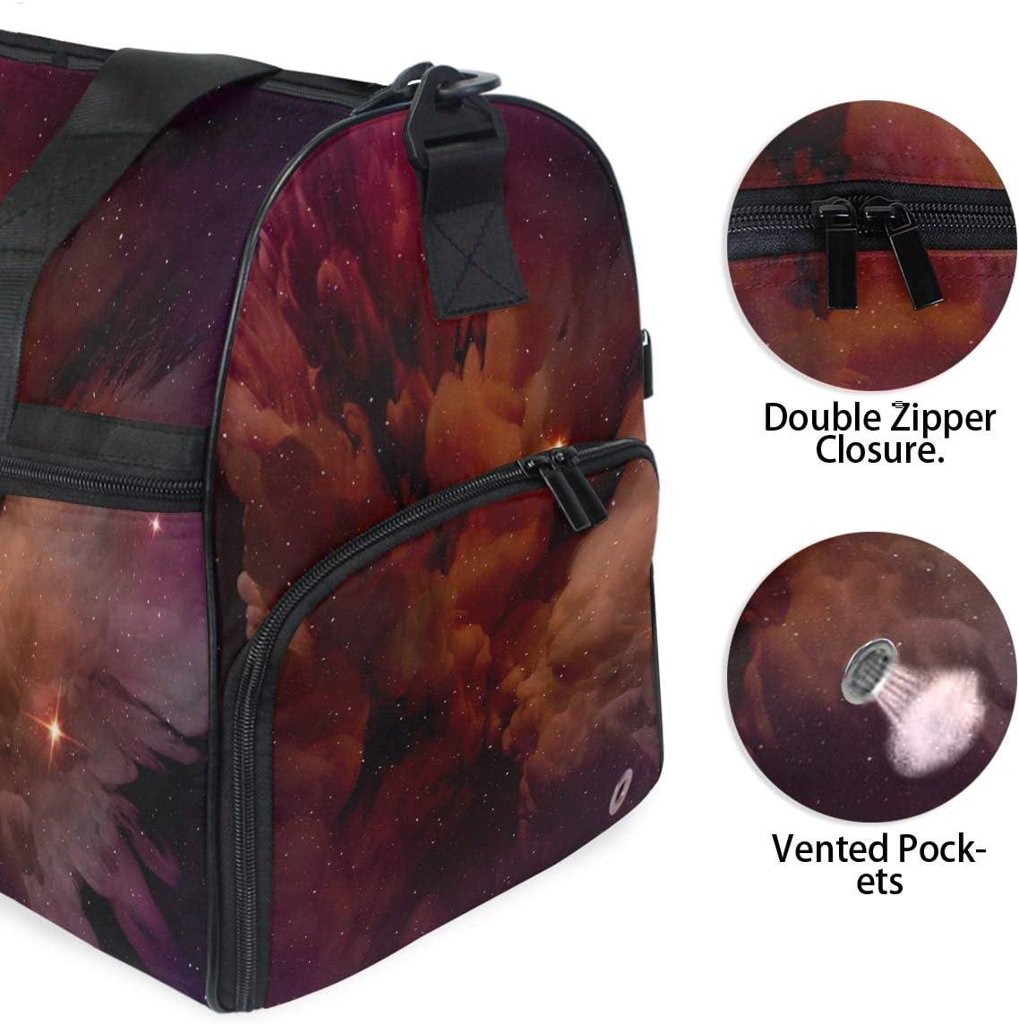 Travel Duffels Glowing Purple Duffle Bag Luggage Sports Gym for Women /& Men