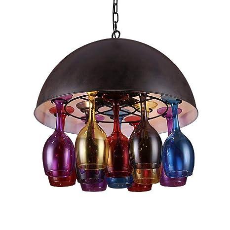 Creativo sencillo Botella moderna lámpara de techo de ...