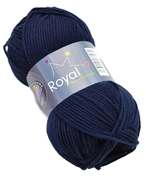 Gründl Royal Merino Superwash Wolle Fb 22 Navy Merinowolle