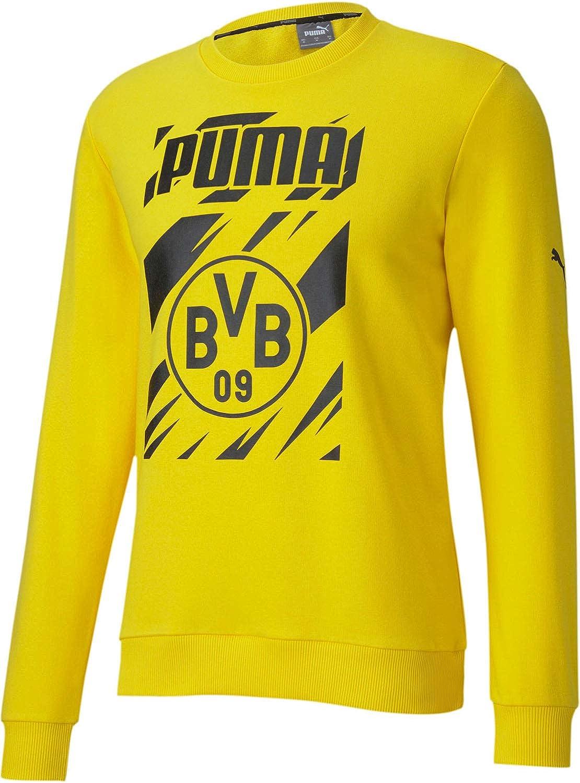 PUMA Men's Borussia Dortmund Ftblcore Graphic Crew Sweat