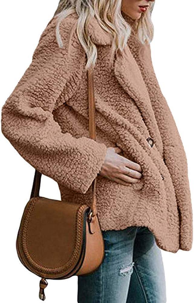 LIEJIE Womens Open Stitch Coat Jacket Cardigan Autumn Winter Warm Parka Outwear Ladies Coat Overcoat Outercoat