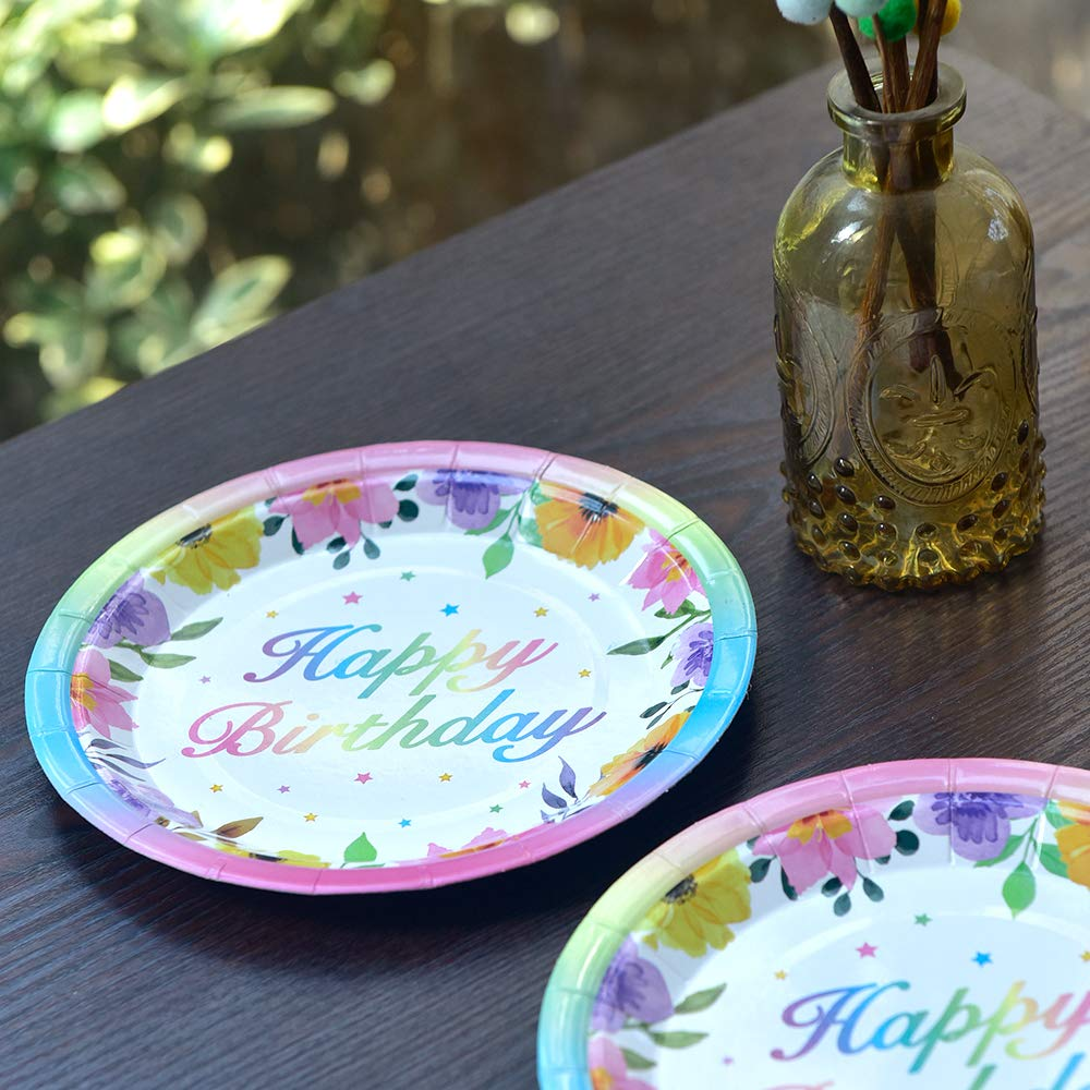 pour 16 Invit/és 48 Pi/èces Assiettes et Serviettes Th/ème Licorne Set de Vaisselle Jetable pour D/éjeuner D/îner Dessert WERNNSAI Licorne Fournitures de f/ête danniversaire pour Filles