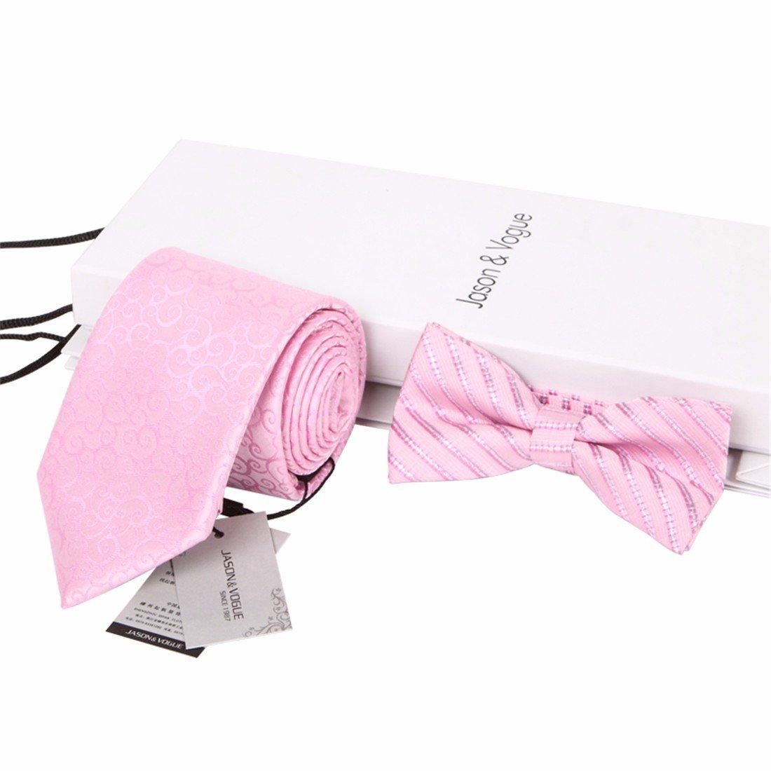 HXCMAN 8cm rosa paisley rayas corbata Conjuntos hombre corbata ...