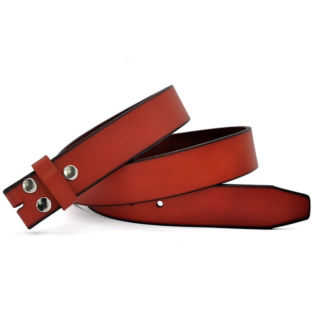 Genuine Leather Belts Without Buckle For Men Strap Vintage Jeans Cowskin Strap With One Layer Leather