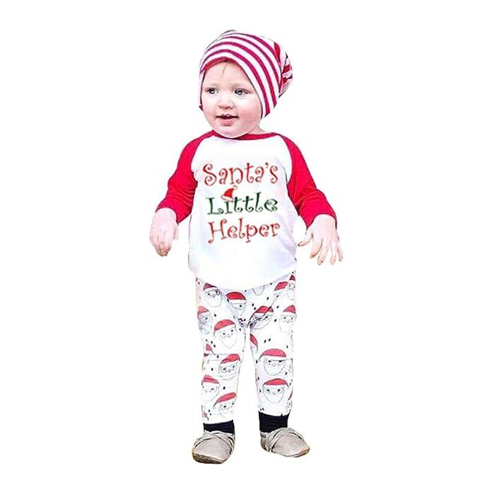 b36d27bd7 T de Navidad Infant Set Pantalones Letter Rntop Cozy Shirt Ropa Tops  Newborn Baby NXkwn8O0P