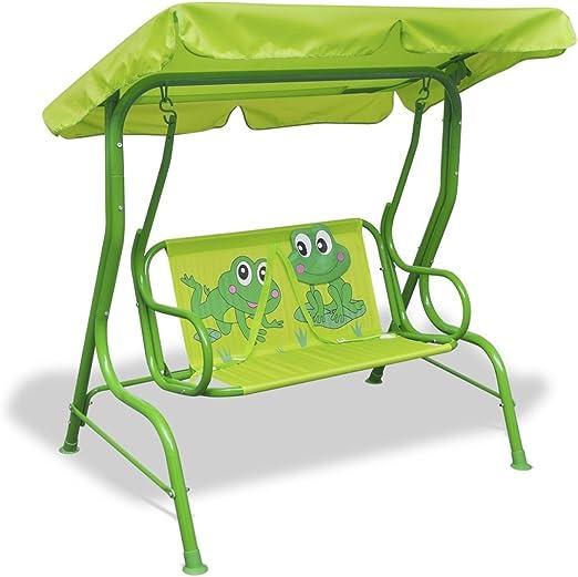 Xinglieu Columpio para niños Verde balancín de jardín balancín de Exterior: Amazon.es: Jardín