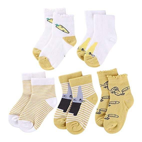 Amazingdeal 5pairs//Lot Cartoon Toddlers Kids Socks Cute Baby Boys Girls Cotton Socks