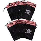 Dozen Pirate Skull Theme Party Favor Bags