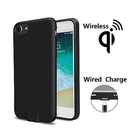 Amazon.com: Qi - Cargador inalámbrico para iPhone 7 Plus 6S ...