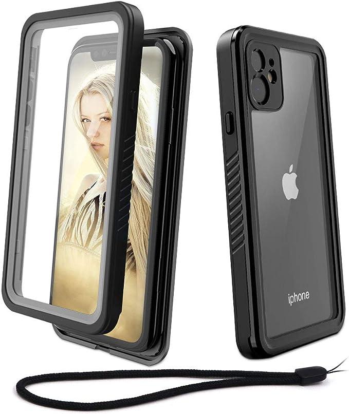 Beeasy Coque iPhone 11 Antichoc, IP68 Étanche 360 ° Protection avec Protecteur d'Écran Intégré Imperméable Antipoussière Anti-Neige Waterproof Etui ...