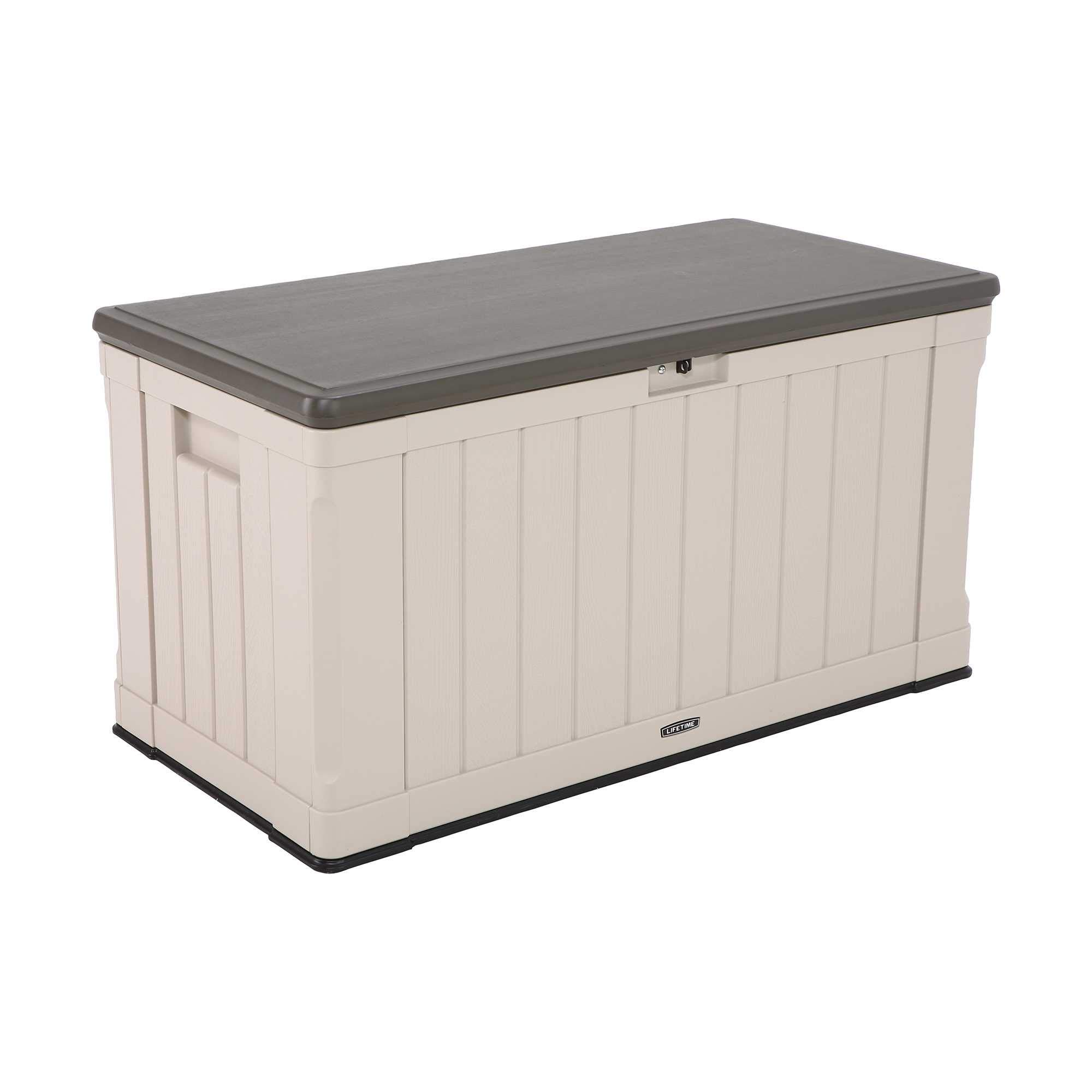 Lifetime 60186 Heavy-Duty Outdoor Storage Deck Box, 116 Gallon, Desert Sand/Brown by Lifetime