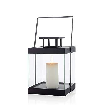 S Metall schwarz ohne Kerze 22 x 22.5 x 29.5 cm blomus Laterne