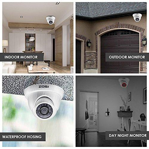 b8dddc676c227 ZOSI 800TVL CCTV Camera 24 IR LEDs Indoor outdoor Day Night ...