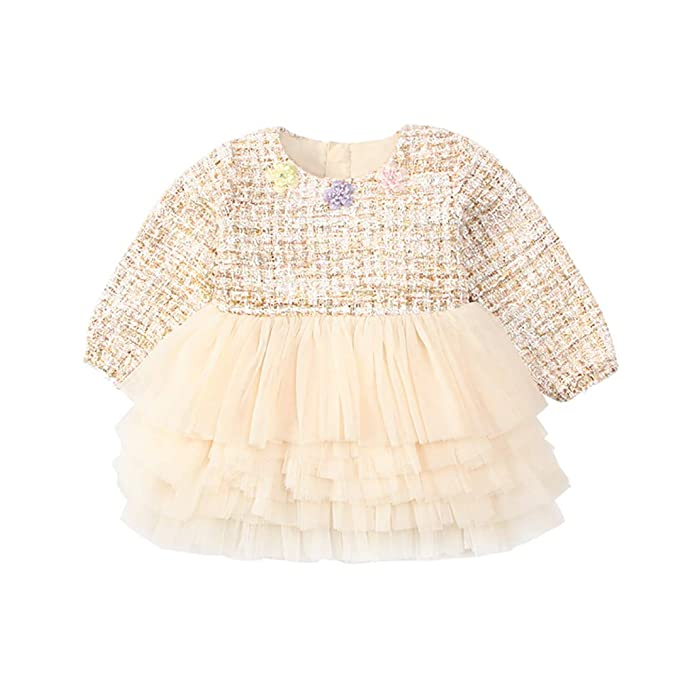 8b91d9a26701 mikistory Baby Girls Dress Toddler Infant Sweater Embroidery Stitching Dress  0-3Years: Amazon.co.uk: Clothing