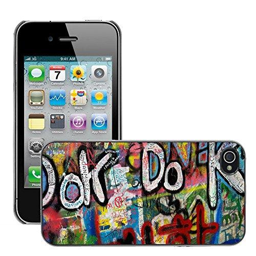 Premio Sottile Slim Cassa Custodia Case Cover Shell // V00002348 Graffiti // Apple iPhone 4 4S 4G