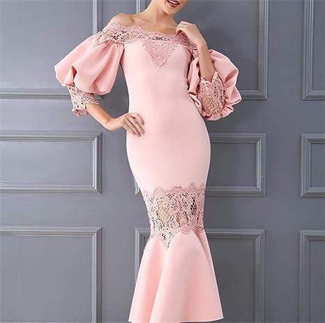 DROHE-Q Vestido de Cena, Vestido de Noche de Las Mujeres una línea ...