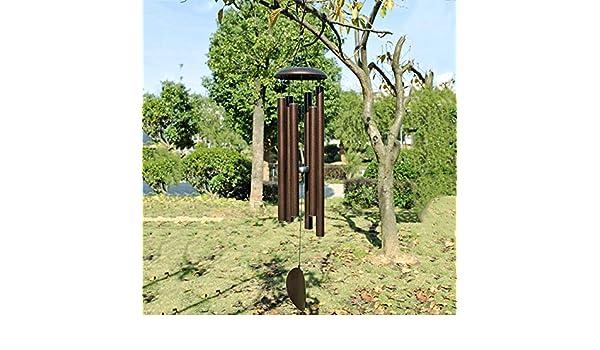 ZhiGe Campanas de Viento Tubo de Aluminio Tuning música Viento Campana Patio jardín decoración casa Colgante 115cm: Amazon.es: Jardín