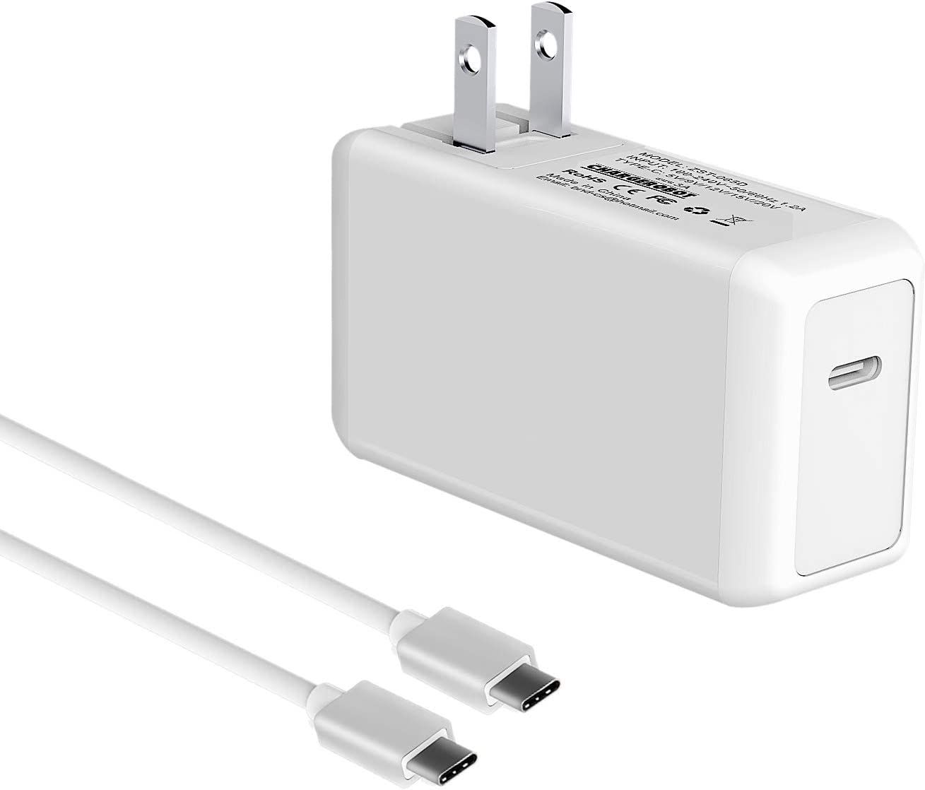 61w USB C Charger for MacBook Pro 13 inch 2016 2017 2018 Type c Wall Charger Power Adapter for Laptop/Phone/ipad pro/chromebook/Note 8/Google Pixel 2XL/lg stylo 4/Huawei Mate Book/Samsung Galaxy s9
