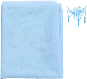 "DIY Fabric Insect Pest Barrier Netting for Home Travel Camping Party - Mosquito Netting- Blue 60""x180"""