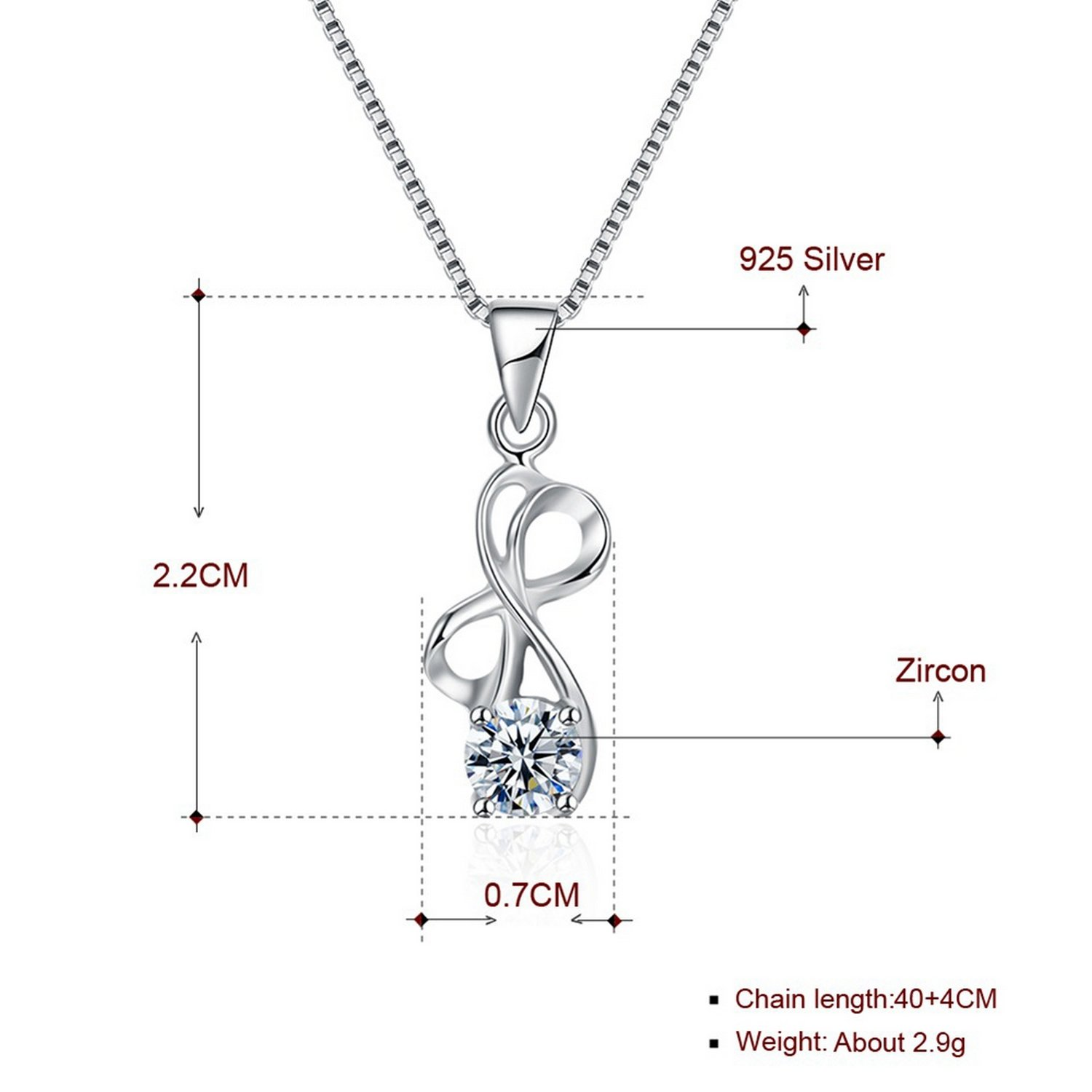CS-DB Pendants Bowknot Collares Gift Silver Necklaces