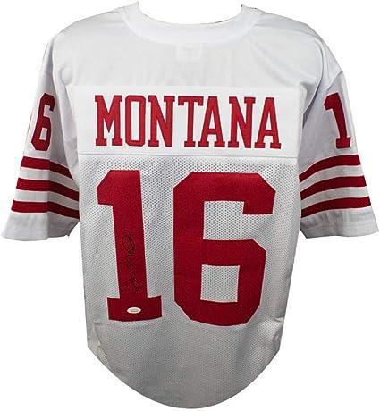 Joe Montana Autographed San Francisco 49ers Custom White Football ...