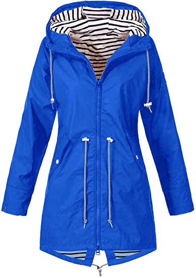 UK Womens Long sleeve Pockets Front Blazer Coat Ladies Outdoors stripes Jackets