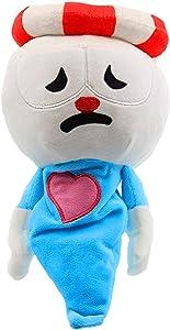 VWMYQ Cuphead Plush Toy Ghost Plush Toy, 11 inch Super Stuffed Cute Super Stuffed Cute Cartoons Toys Cosplay Anime Plush Doll Toy for Home Sofa Decor (Cup Ghost Head)