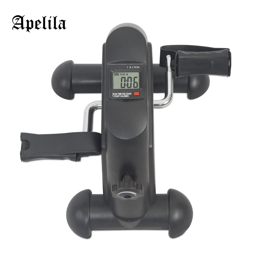 Apelila Pedal Exercise Machine w/LCD Display, Fitness Cycle Digital Exerciser Bike Stationary (Black 2) by Apelila (Image #2)