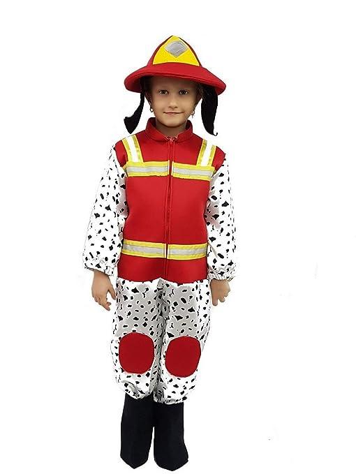 660255b9113f PICCOLI MONELLI Costume Paw Patrol Marshall Bambino 5 6 Anni Vestito Cane  Pompiere di Carnevale 80