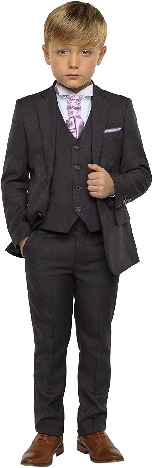 Paisley of London Boys Dark Grey Suit Boys Wedding Suits 13 Years Page boy Suits 12-18 Months