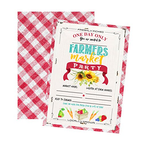 - Silly Goose Gifts Farmers Market Themed Party Invitations Supply Decor (Invitation)