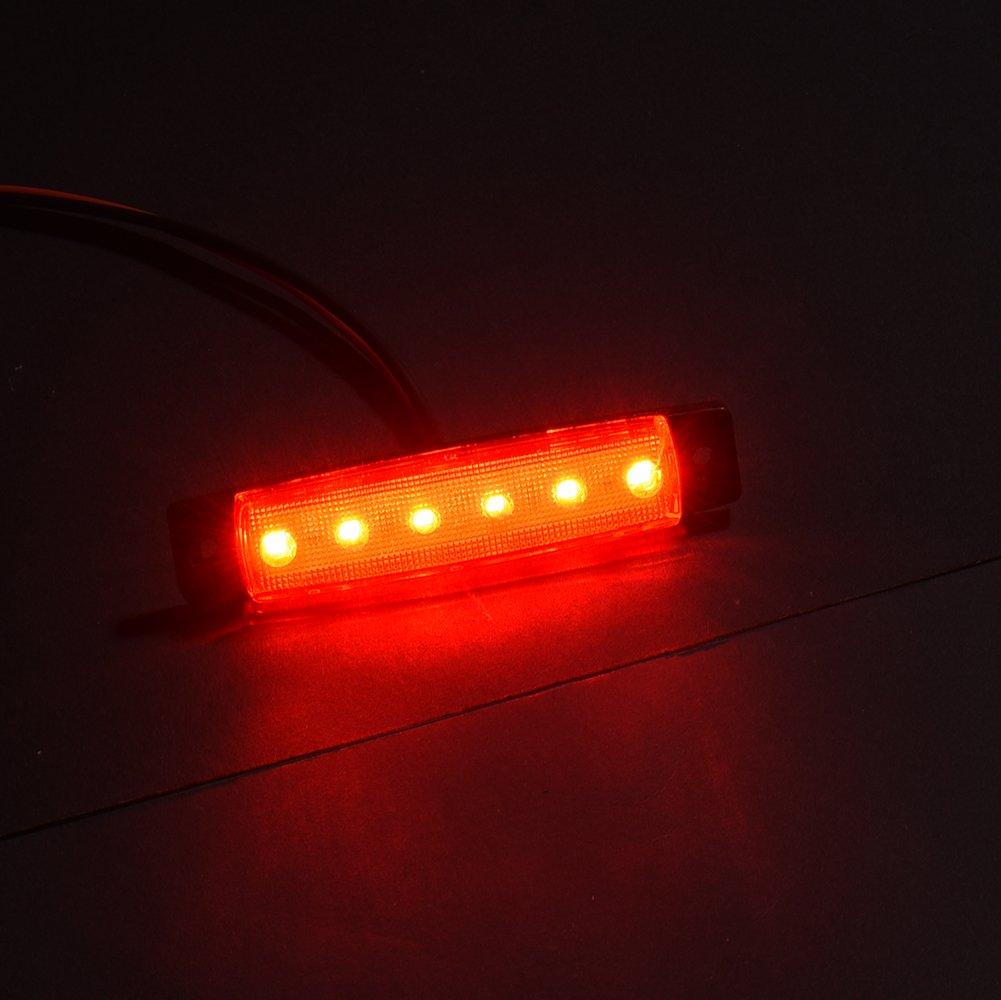 Red 5 x LED R/ückleuchten Heckleuchte Anh/änger LKW R/ückfahrlicht Bremslicht