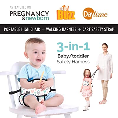 Travel High Chair + Portable High Chair + Toddler Safety Harness