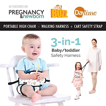 Magnificent Portable High Chair By Lucky Baby 3 In 1 Toddler Baby Harness Space Saver High Chair Grocery Theyellowbook Wood Chair Design Ideas Theyellowbookinfo
