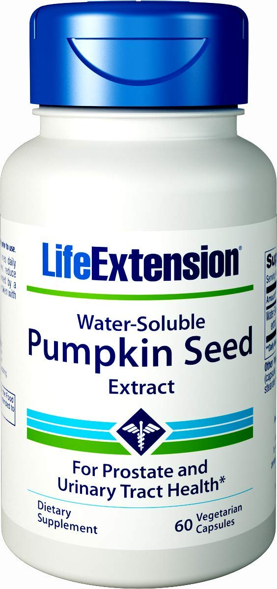 Life Extension Water-Soluble Pumpkin Seed Extract, 60  Vegetarian Capsules by Life Extension