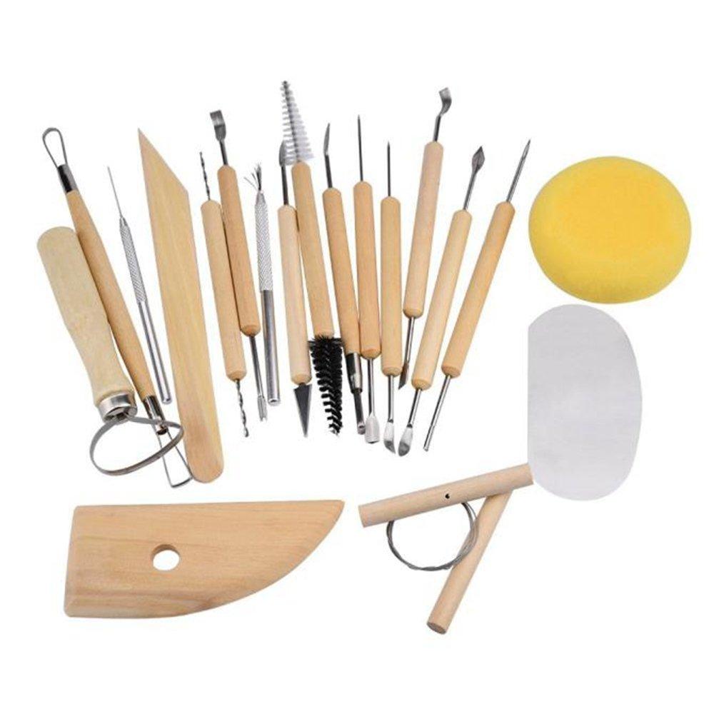 Celendi 19 Piece Professional Wood Sculpture Carving Tool Set Pottery Tools