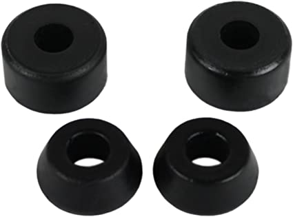 Black SKATEBOARD Truck WASHERS 4 Pieces Replacement LONGBOARD