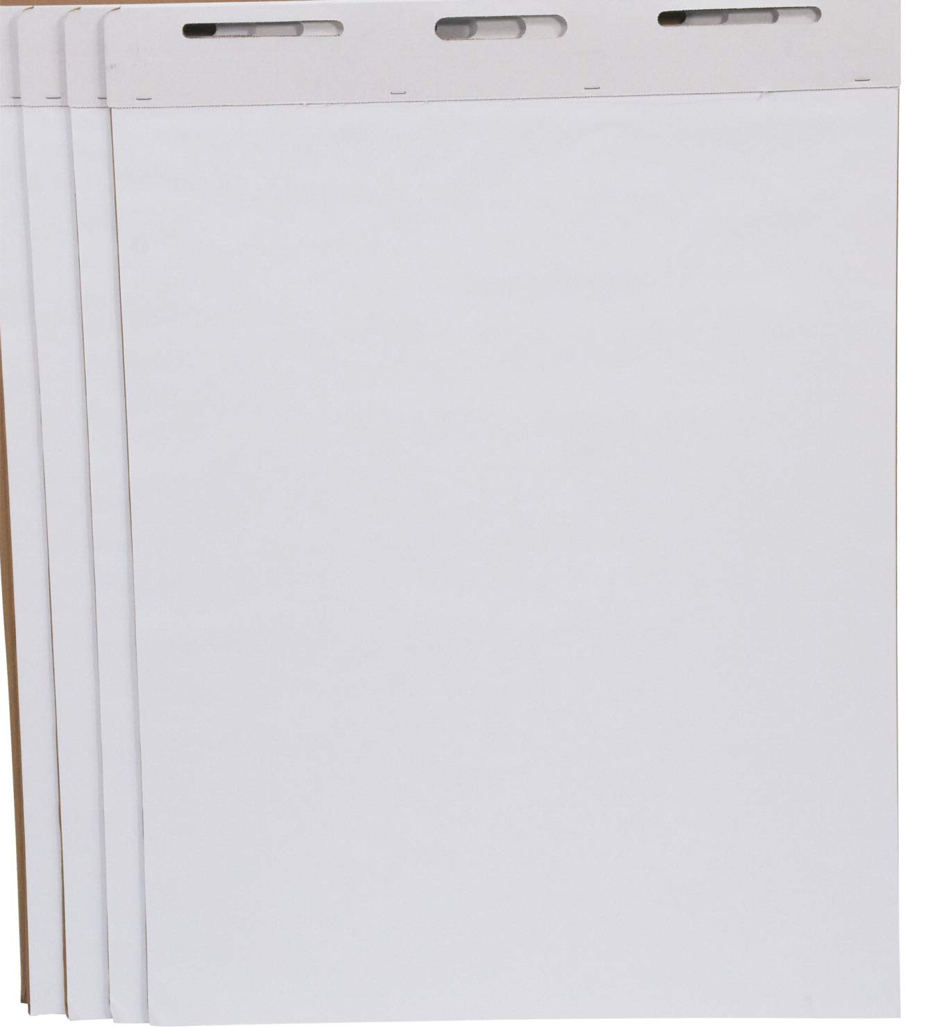 School Smart Unruled Easel Pads, 34 x 27 in, 50 Sheets, White, Pack of 4