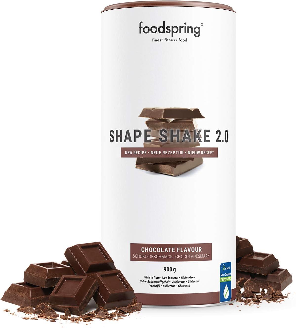 foodspring Shape Shake 2.0, Chocolate, 900 g, Sustitutivo de ...