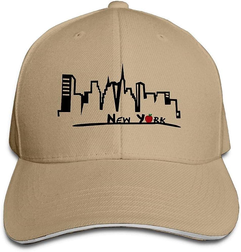 JustQbob1 New York Outdoor Sandwich Duck Tongue Cap Adjustable Baseball Hat Hip Hop Hat
